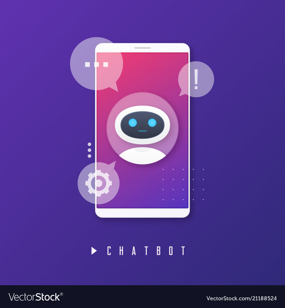 Chat bot virtual assistance artificial vector image