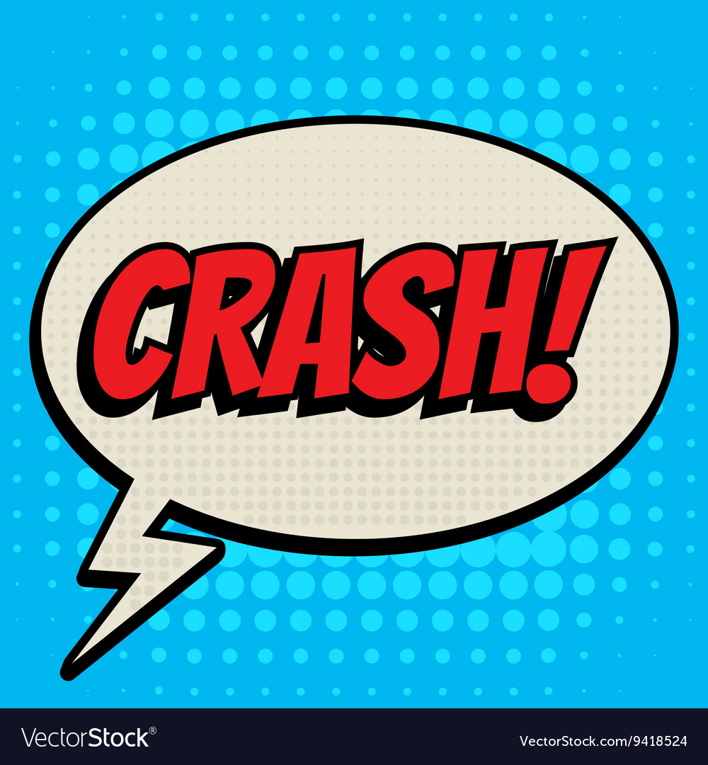 Crash comic book bubble text retro style