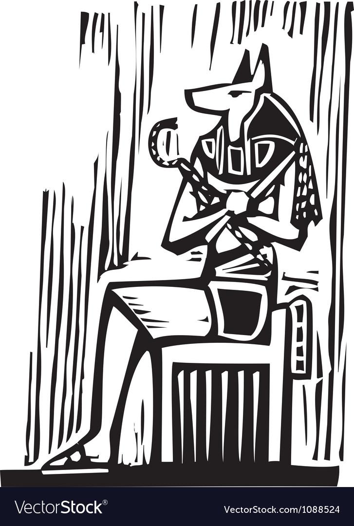 Egyptian Sitting Anubis