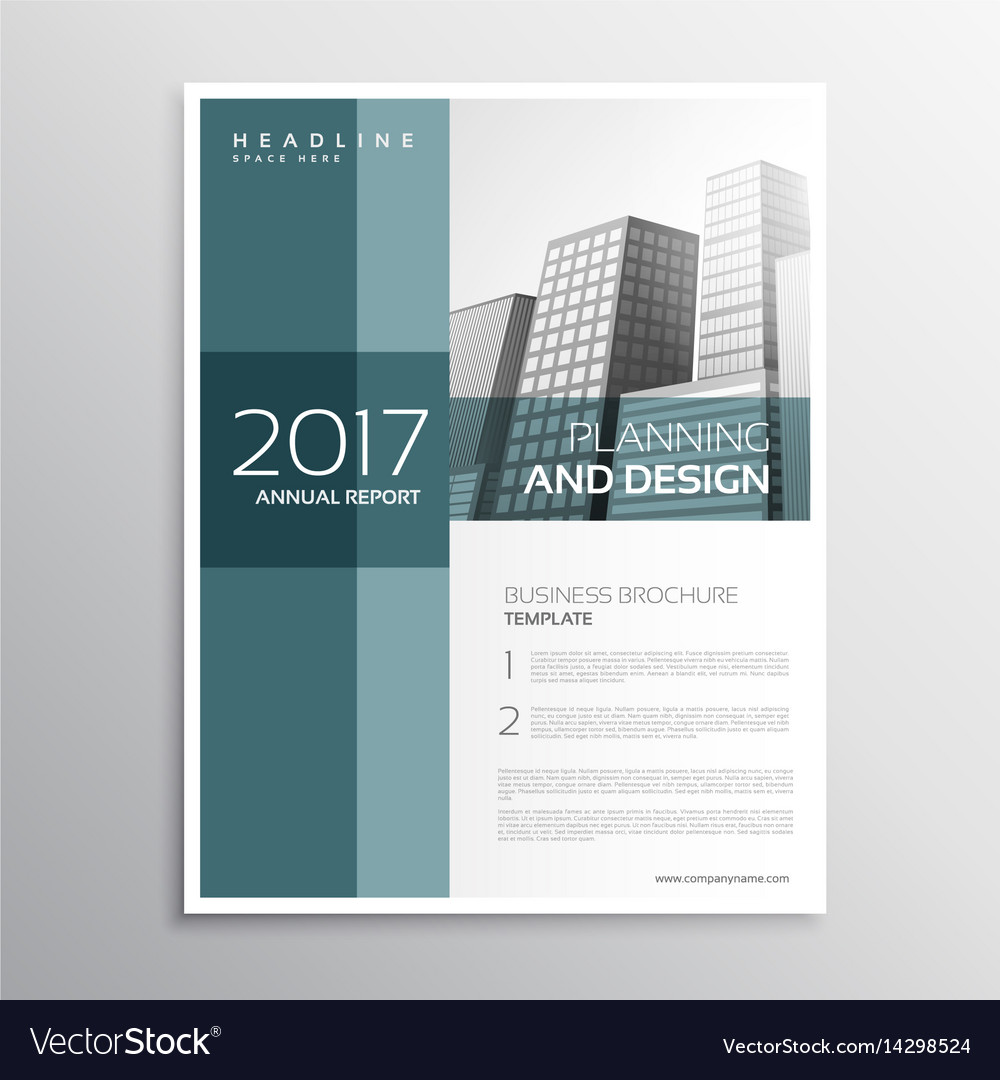 Elegant business leaflet template design in a4 vector image cheaphphosting Image collections