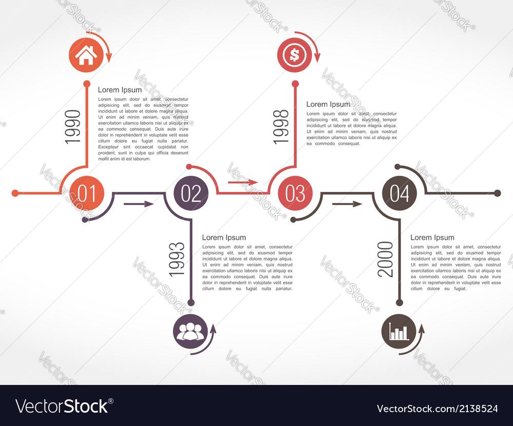Horizontal Timeline Template from cdn5.vectorstock.com