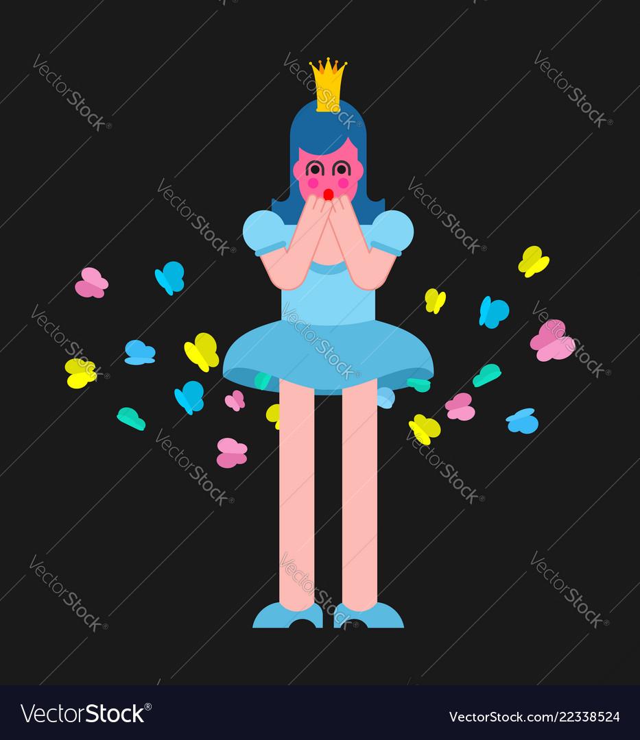 Princess fart butterfly woman farting sweet girl