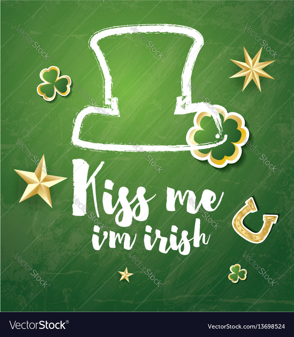 Saint patricks day background with clover leaves