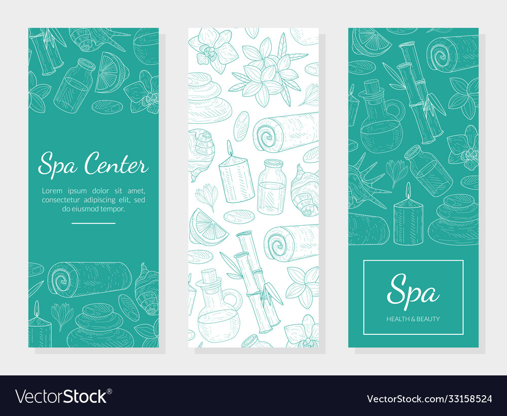 Spa Center Health And Beauty Banner Template Vector Image