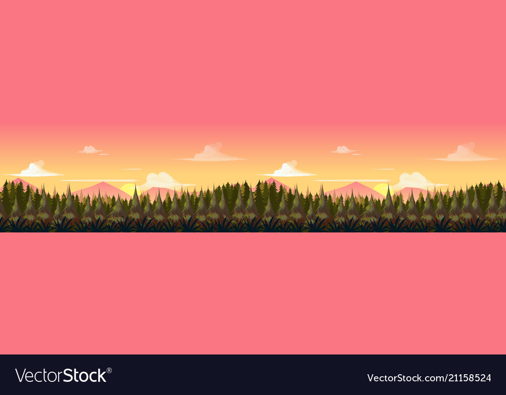 Sunset mountains landscape panorama the