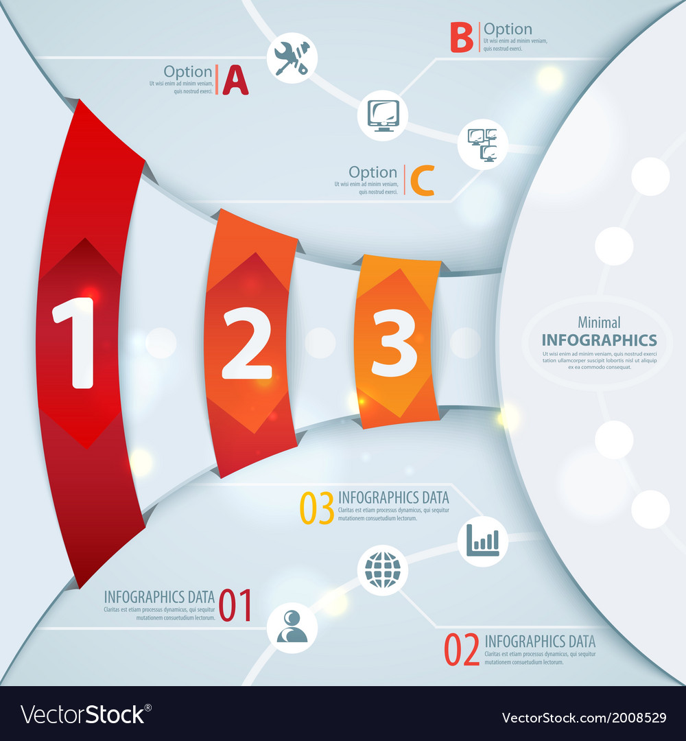 Abstract squares background infographic template