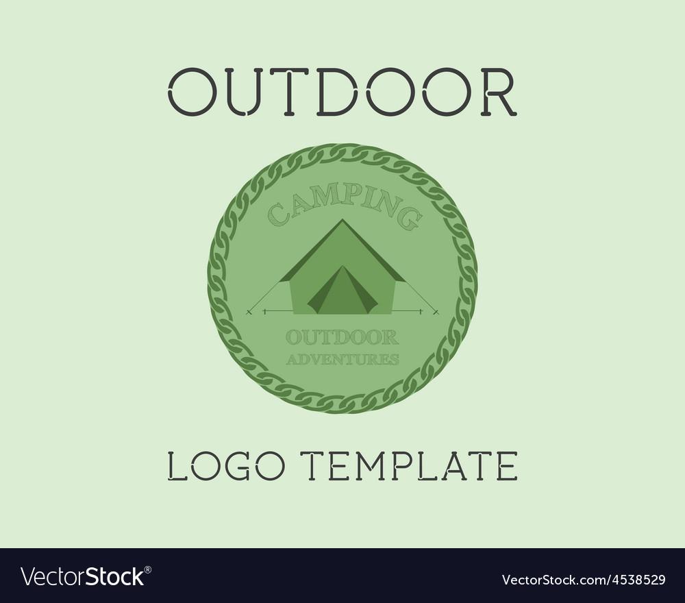 Adventure Outdoor Tourism Travel Logo Template