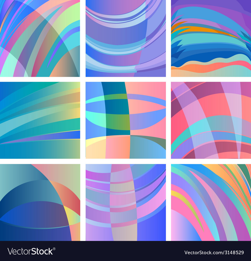 Background smooth abstract design set