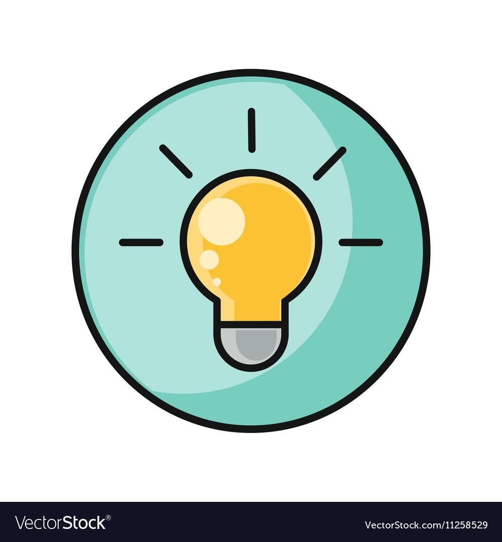 Creative Idea with Light Bulb Shape vector image