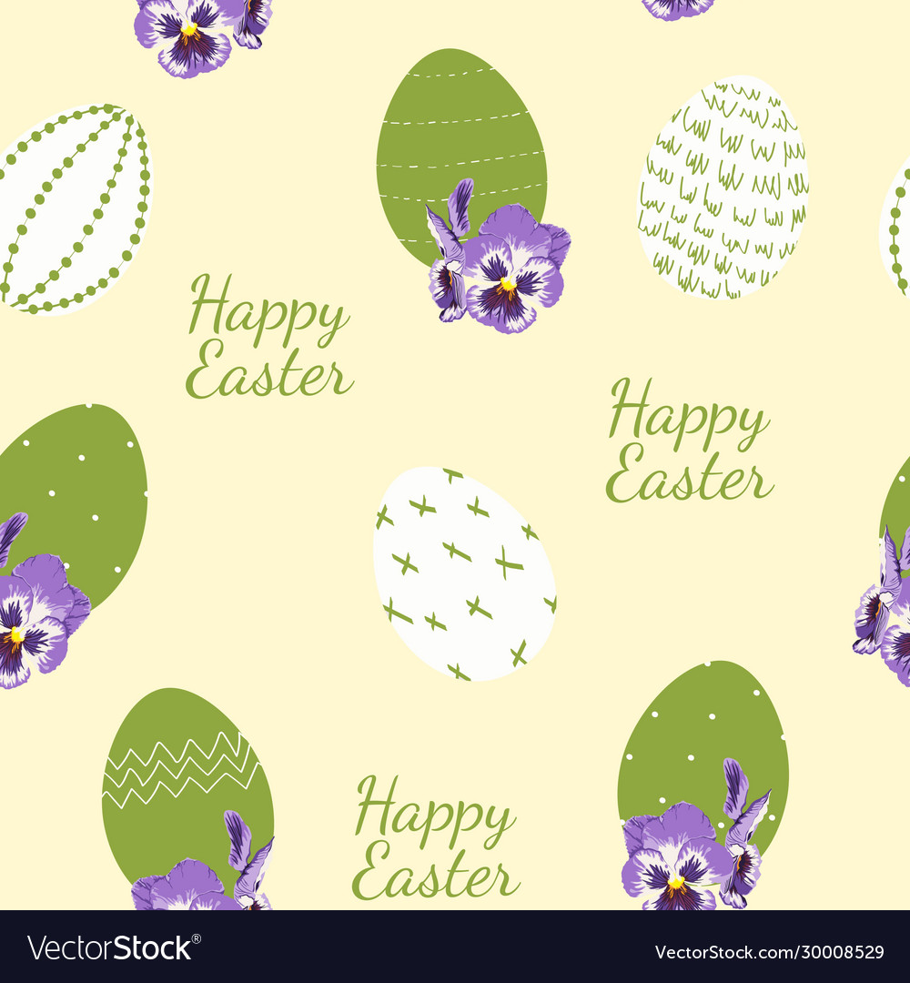 Easter seamless pattern for wrapping paper