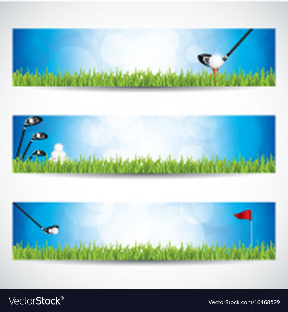 Golf Banners Royalty Free Vector Image Vectorstock