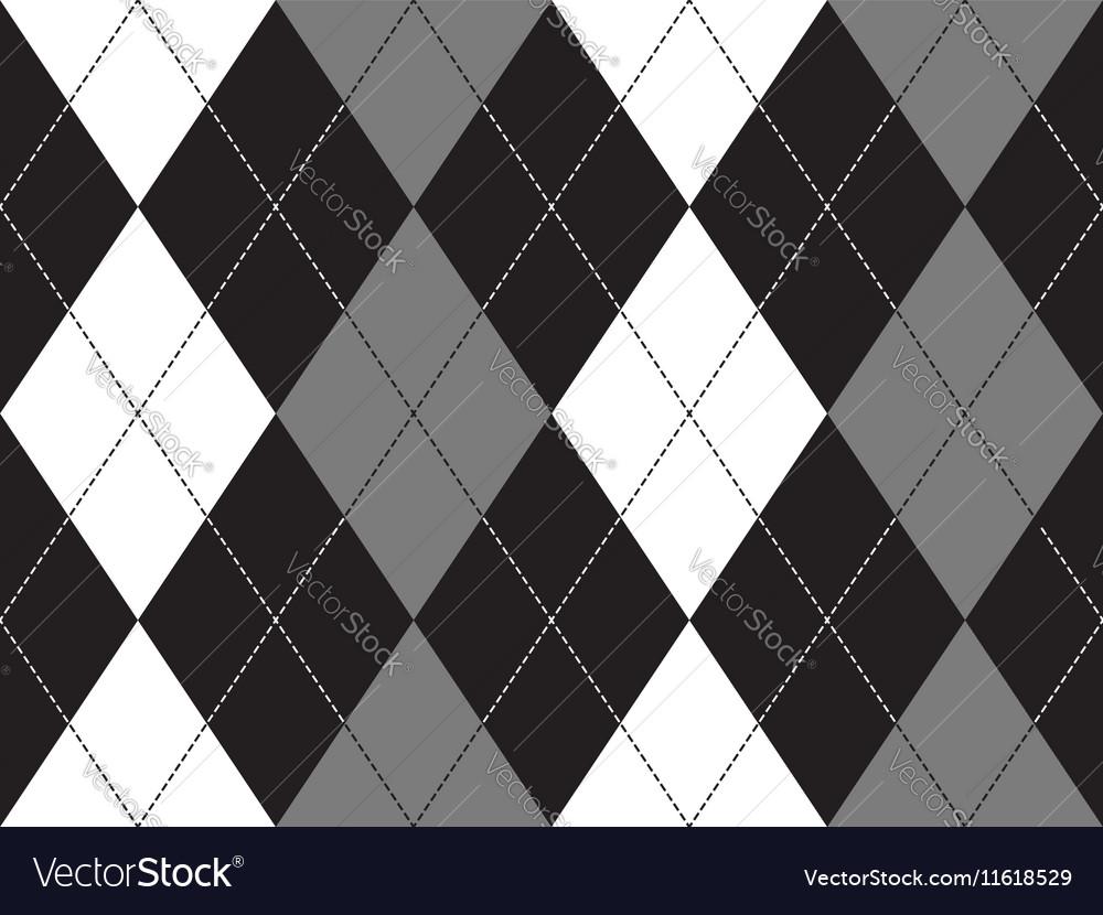 Grayscale argyle seamless pattern