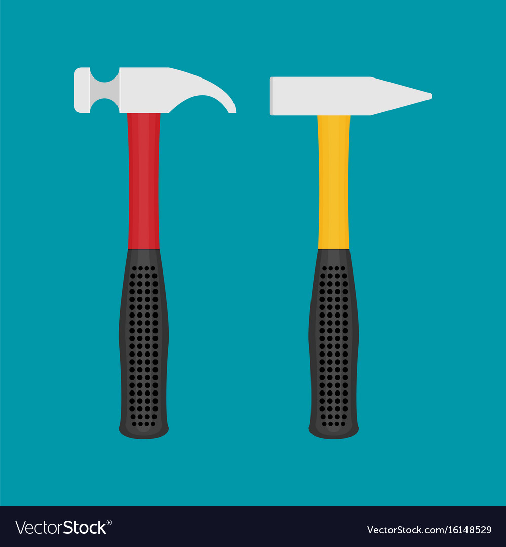 Hammer flat icon vector image