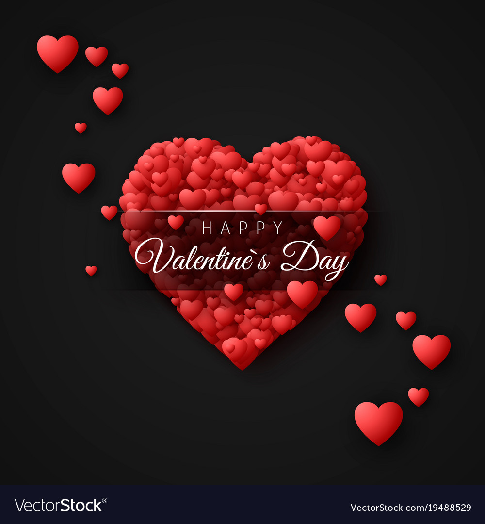 Happy Valentines Day Greeting Card Concept Vector Image