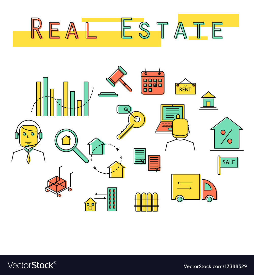 Real estate investment concept icon