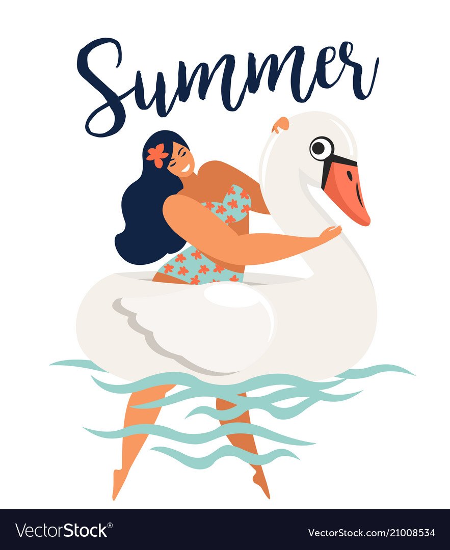 Abstract summer time card with