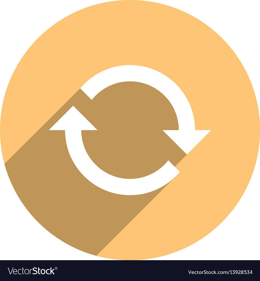 Arrow sign refresh icon circle button