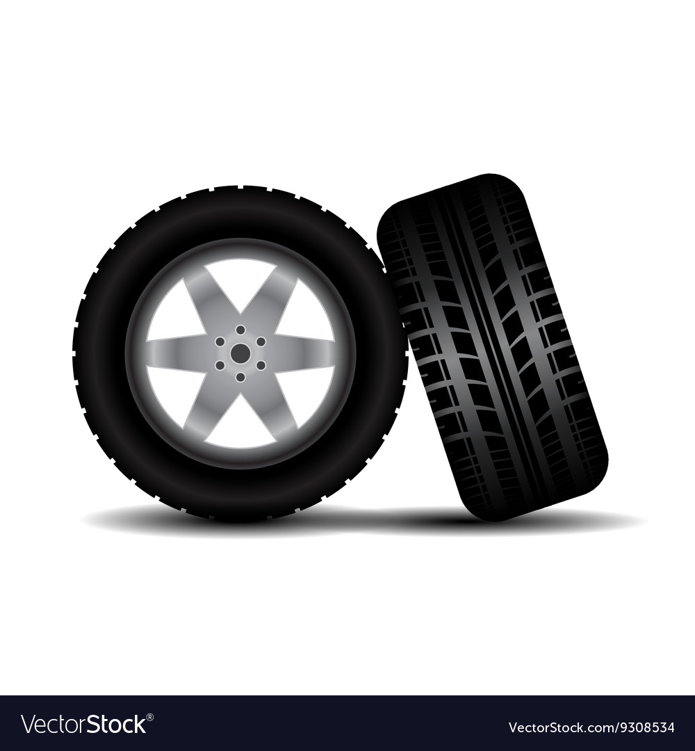 Car Tires For Nissan Altima, Car Tires With Wheels And Shadow Vector Image, Car Tires For Nissan Altima