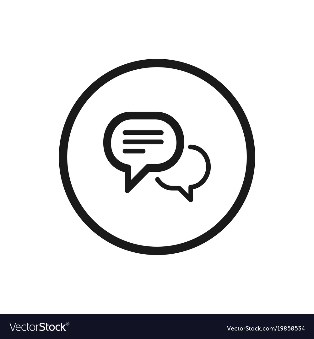 Chat icon on a white background