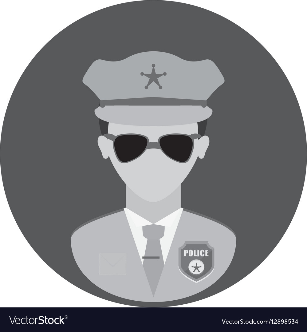 Figure police officer icon image vector image