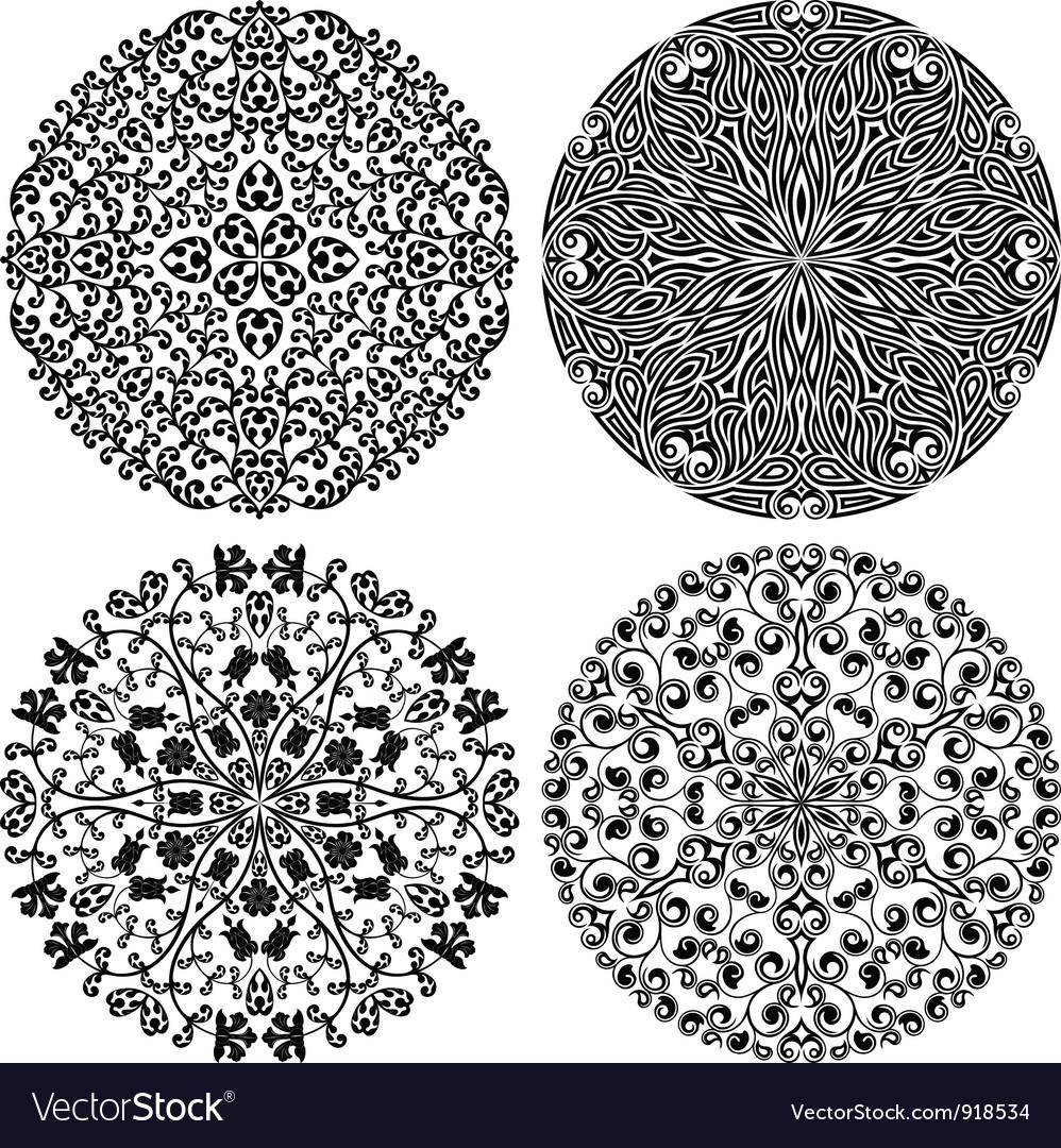Floral patterns set vector image