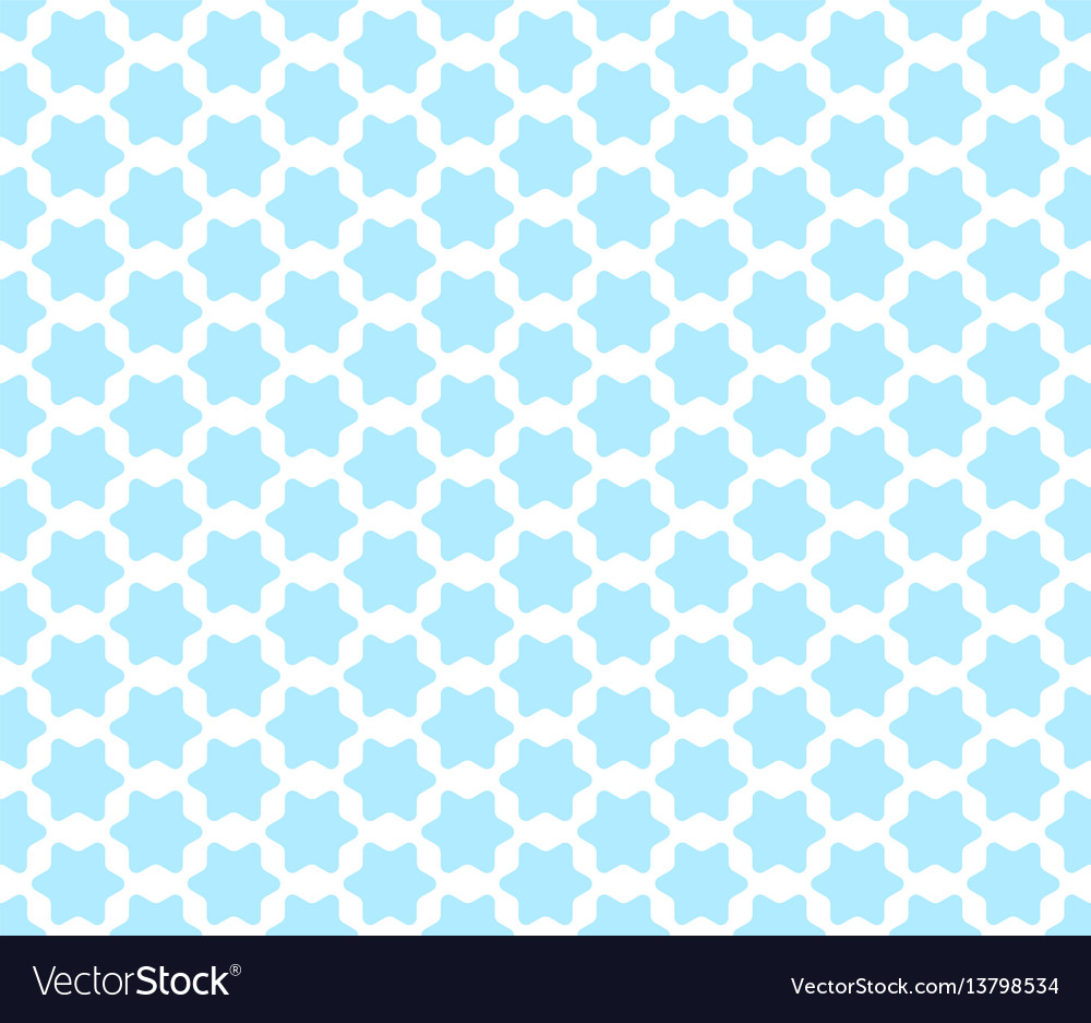 Seamless pattern with cute arabian styled blue