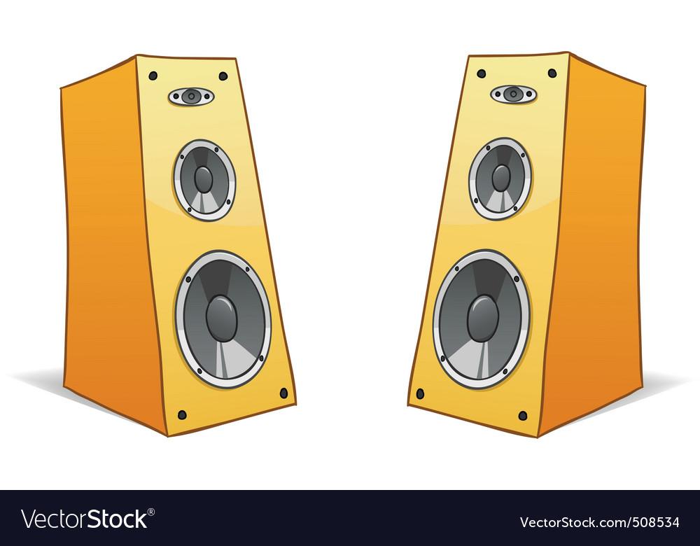 Two vector cartoon speakers