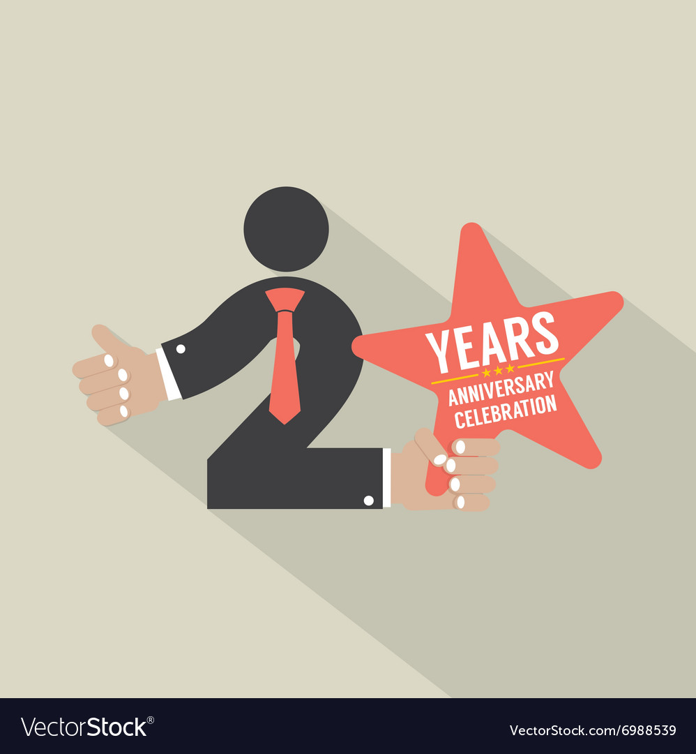 2nd Years Anniversary Typography Design Royalty Free Vector,Types Of Hamsters Breed