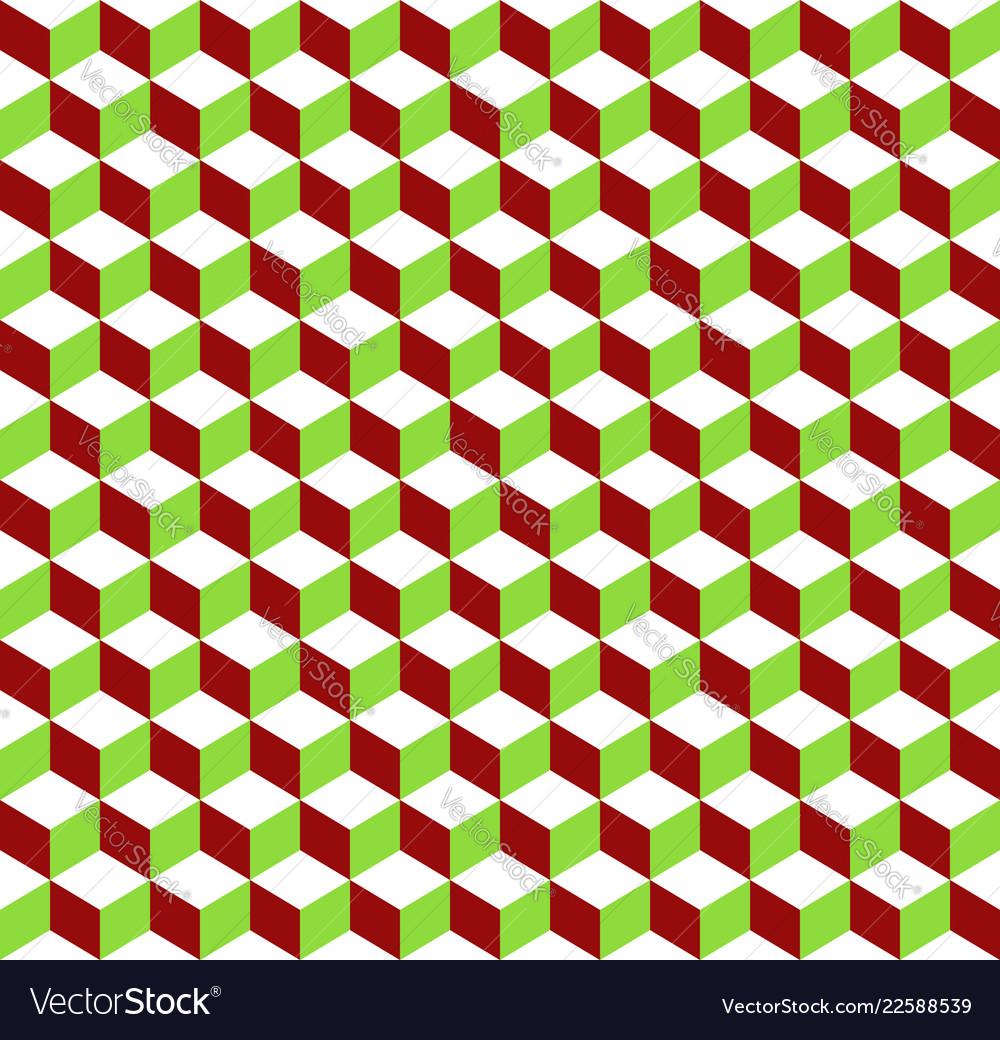 3d cubes tricolor geometric background