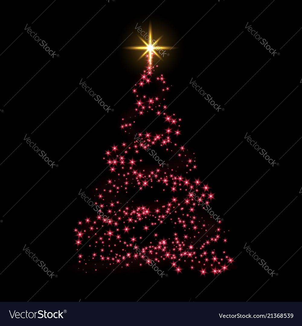 Christmas tree card background red christmas tree