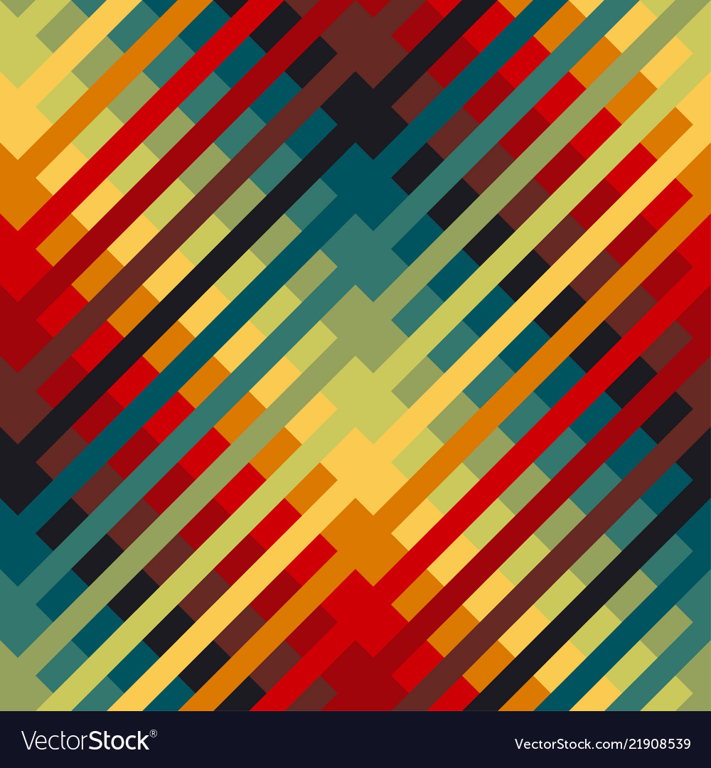 Colorful repeatable motif with diagonal lines