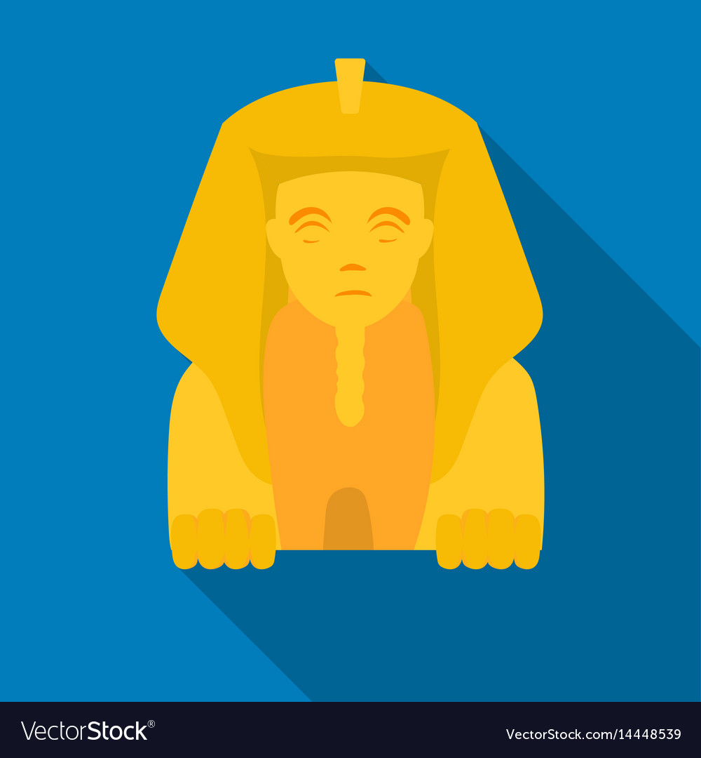 Sphinx icon in flat style isolated on white