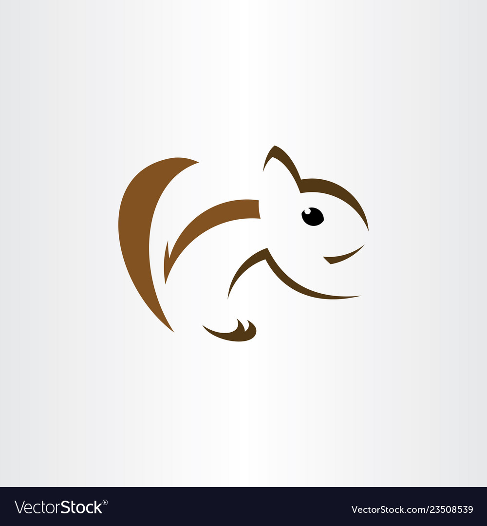 Squirrel logo stylized icon sign