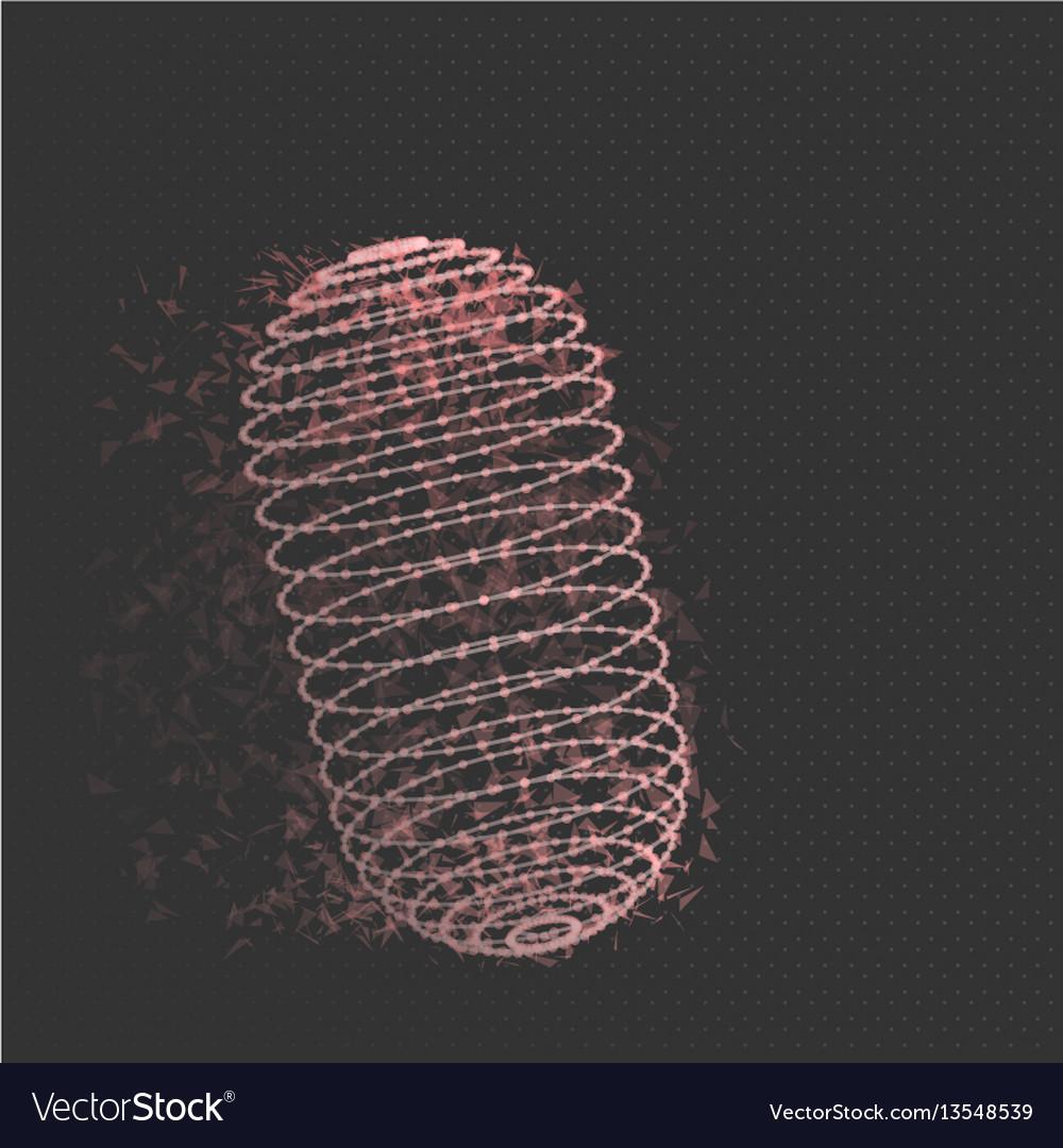 Wireframe mesh cylinder