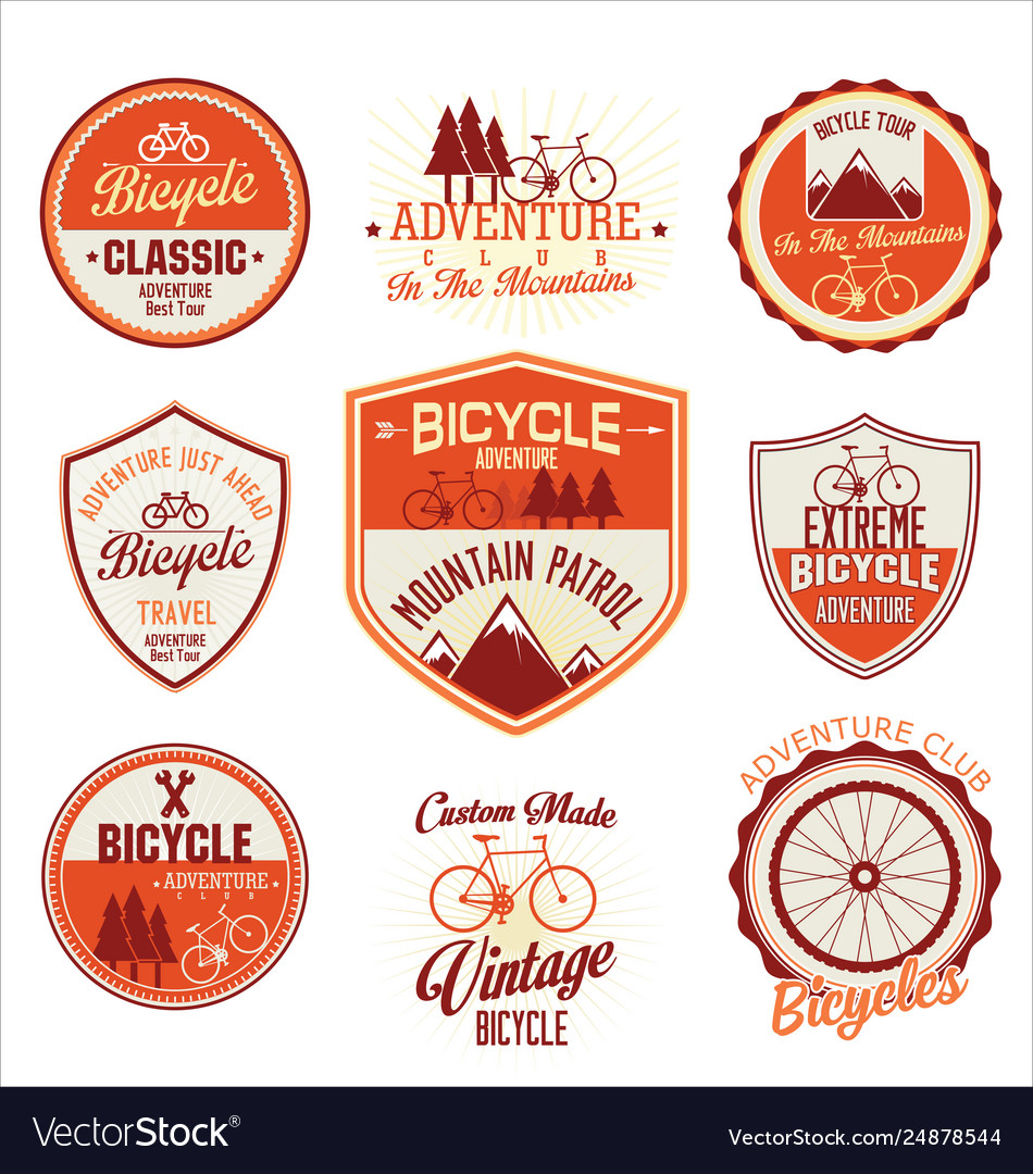 Bicycle retro badge collection