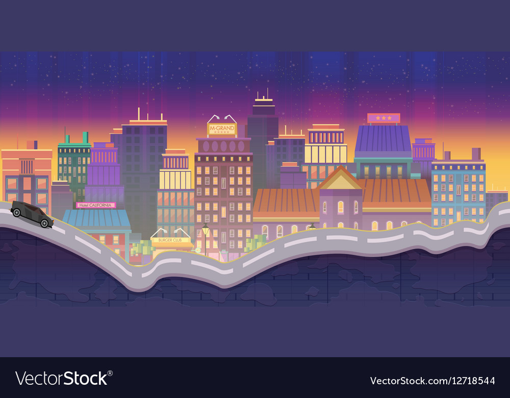 City for games Night Background