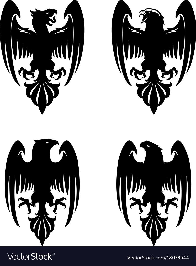 Dark evil heraldic eagle