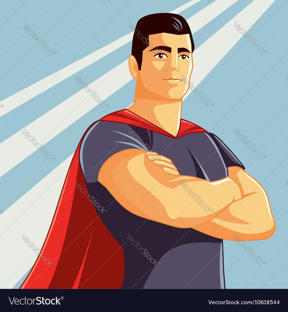Superhero in Comics Style