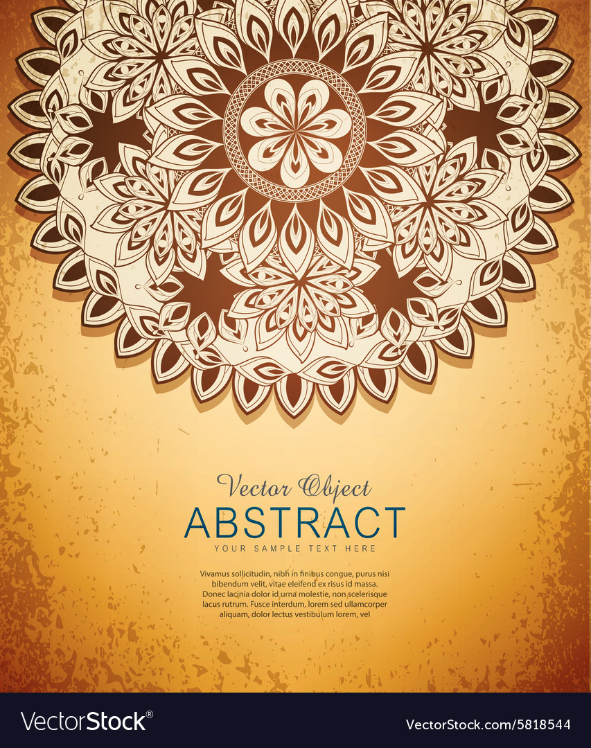 Vintage hand-drawn abstract flowers pattern