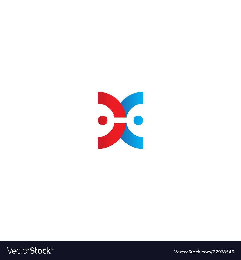 Abstract round partner business logo
