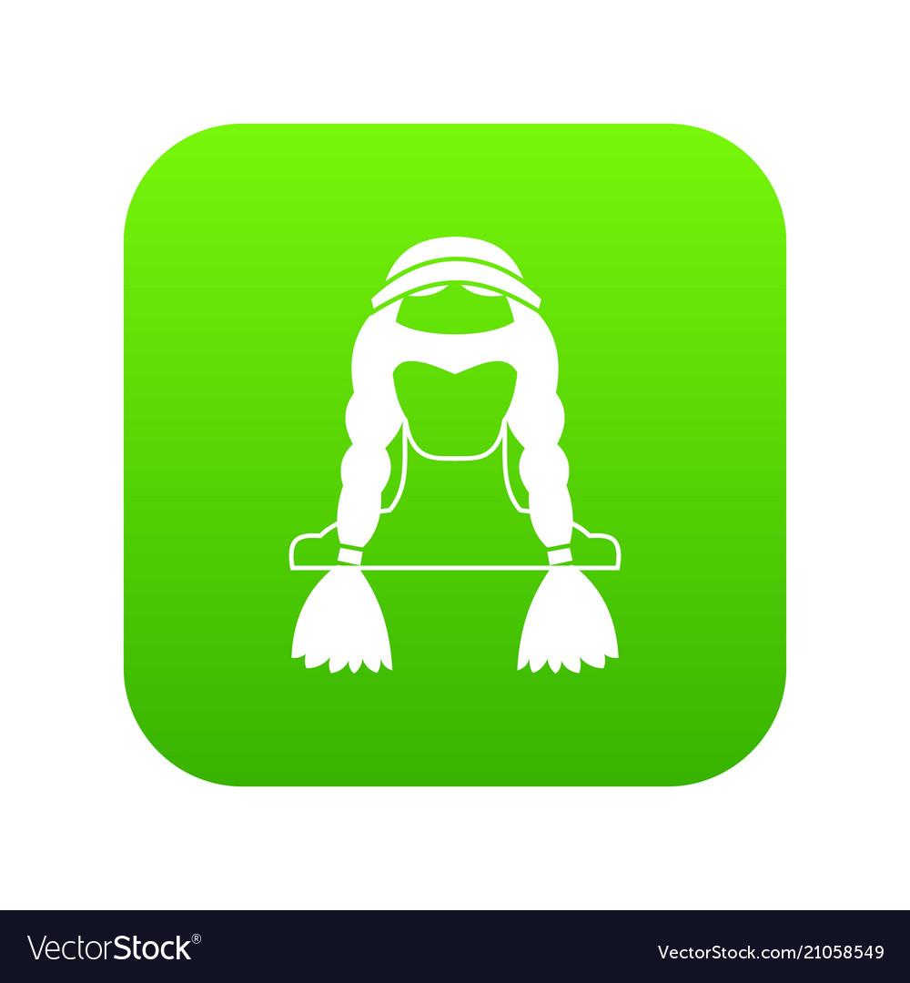 American indian icon digital green