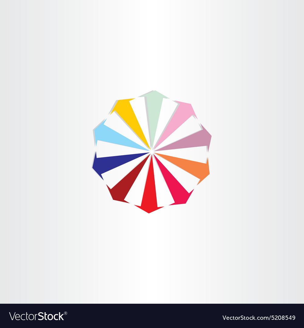 Arrows in circle colorfull logo design