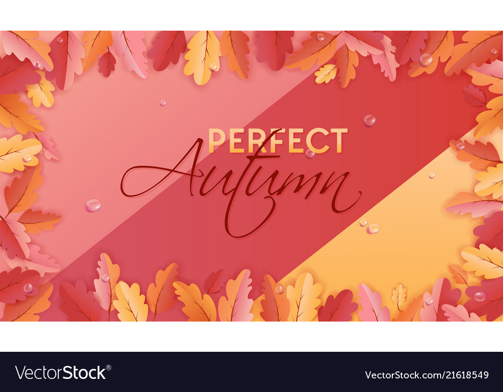 Autumn background leaves for web banner card