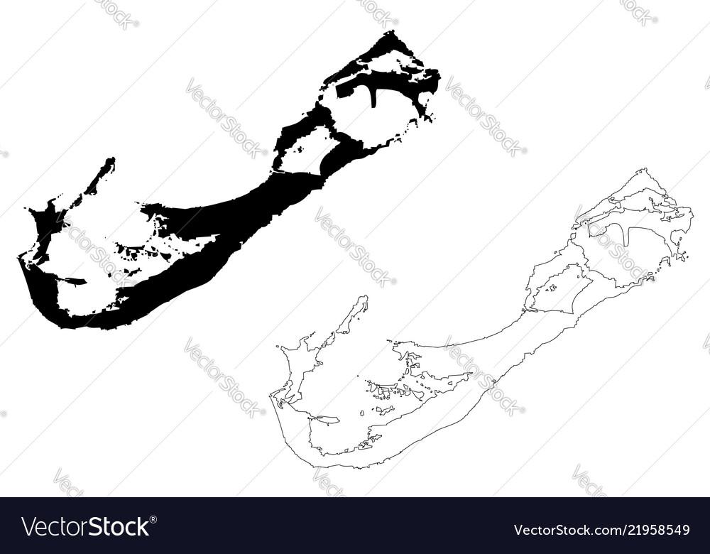 Bermuda island map