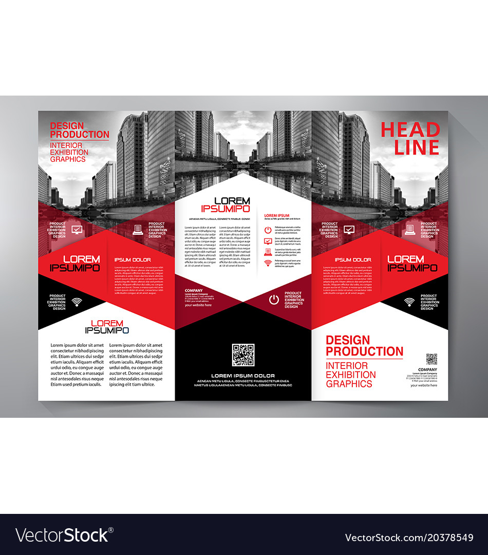 Brochure 3 fold flyer design a4 template