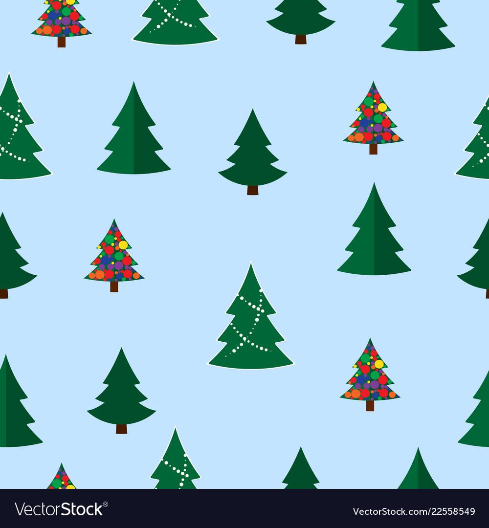 Christmas tree seamless pattern winter