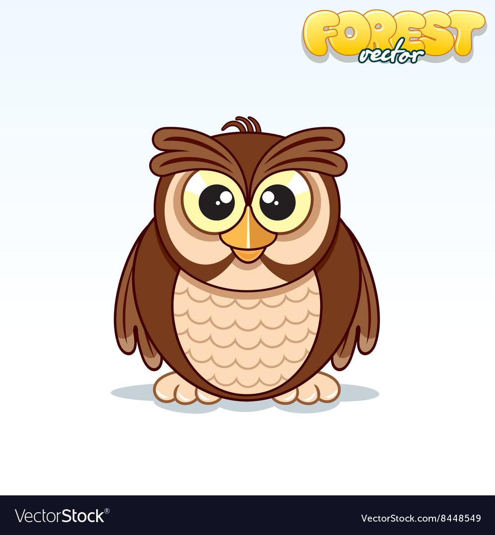 Cute Cartoon Owl Funny Animal
