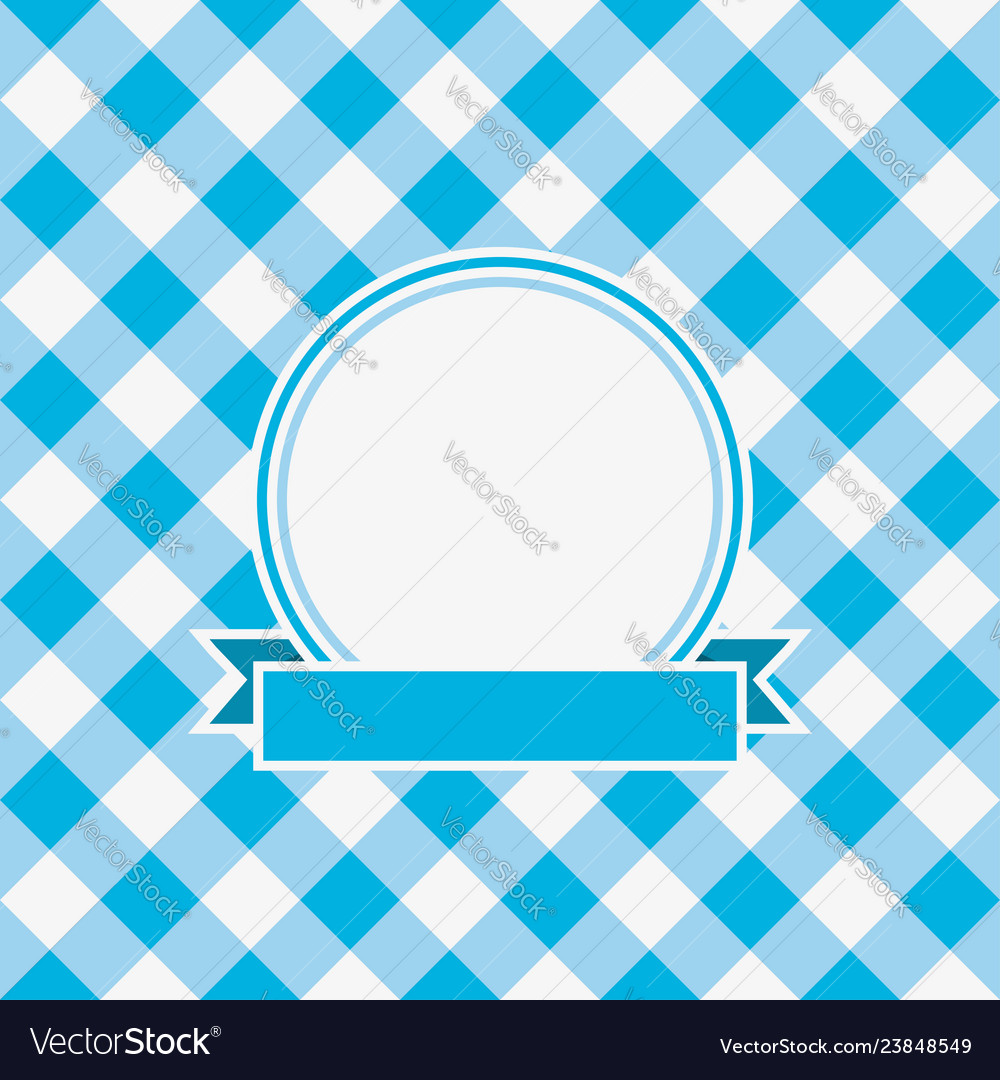 Gingham invitation card
