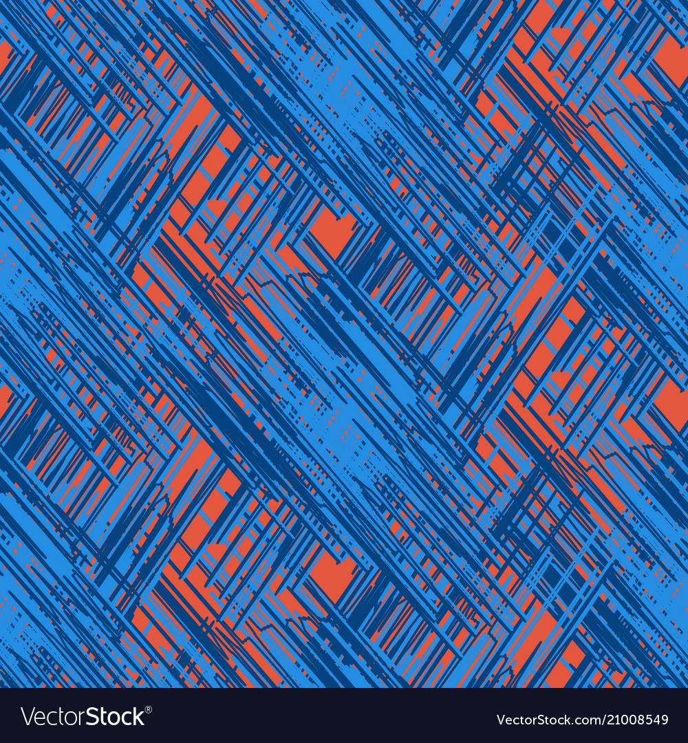 Grunge scribble strokes seamless pattern
