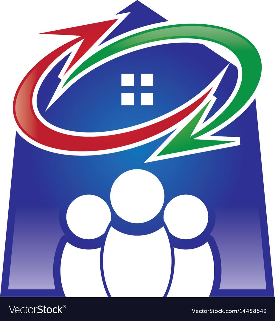 Home group exchange logo vector image